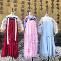 National costume / stage costume Spring of 2019 A ball of six meters is blue, a ball of six meters is pink, and a ball of six meters is red S,M,L,XL Other / other 18-25 years old polyester fiber 71% (inclusive) - 80% (inclusive)
