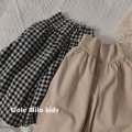 trousers Other / other female 90cm,100cm,110cm,120cm,130cm,140cm Lattice, Khaki spring and autumn Ninth pants Korean version No model Harlem Pants / knickerbockers Leather belt High waist cotton Don't open the crotch Cotton 95% other 5% KZTHHGG