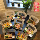 Disposable lunch box Chinese Mainland rectangle box 100 or more paper Small 760ML medium 970ml large 1470ml