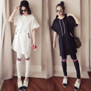 Casual suit Summer of 2018 Black suit white suit M L XL XXL XXXL 18-25 years old two thousand three hundred and thirty-three Other / other
