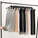 Dress Summer 2020 Black short, black medium long, white short, white medium long, light gray short, light gray medium long, dark gray short, dark gray medium long, Navy short, Navy medium long, skin color short, skin color medium long M,L,XL,2XL Mid length dress singleton  Sleeveless commute Socket
