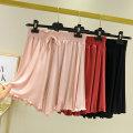 Casual pants M,L,XL Summer 2020 shorts Wide leg pants High waist commute Thin money 91% (inclusive) - 95% (inclusive) modal  Korean version Lotus leaf edge cotton