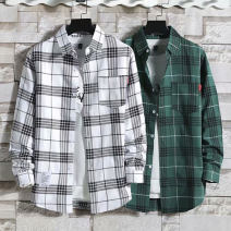 shirt Youth fashion Others Thin money square neck Long sleeves easy Other leisure Four seasons lovers tide 2020 lattice Plaid No iron treatment Color matching Easy to wear