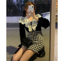 Fashion suit Spring 2021 S,M,L,XL A single skirt, a single shirt, a set of colors Other / other