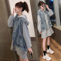 Women's large Autumn 2020 Other oversize styles Two piece set commute easy moderate Socket Long sleeves Korean version Crew neck routine Three dimensional cutting routine Medium length