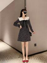 Dress Spring 2020 As shown in the figure S,M,L,XL Short skirt singleton  Long sleeves commute zipper Korean version