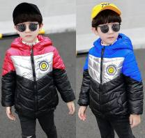 Cotton padded jacket male No detachable cap Cotton 96% and above Other / other Smiley face red cotton padded jacket, smiley face blue cotton padded jacket, smiley face yellow cotton padded jacket, Xixi grey Plush trousers, Xixi black Plush trousers thickening Zipper shirt leisure time Solid color