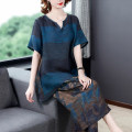 Women's large Summer 2021 Coffee blue L XL 2XL 3XL 4XL 5XL Other oversize styles Two piece set commute easy moderate Socket Short sleeve Retro other routine Three dimensional cutting routine H213208 Fine posture 40-49 years old Other 100% Pure e-commerce (online only) Cropped Trousers