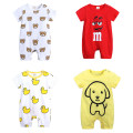 Jumpsuit / climbing suit / Khaki neutral cotton Kids Tales Class B summer Short sleeve Short climb motion No model in real shooting nothing Cotton 95% others 5% Condom CXHY-986 Six months, 12 months, 18 months, 2 years, 9 months White, red letter Hayi, yellow dog Hayi hy2448y, white bear Hayi hy2461w