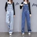 Jeans Spring 2020 Dark blue light blue S M L XL Ninth pants High waist rompers kz200223005 VOQO Cotton 95% other 5%