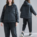 Women's large Winter 2020 Picture color L [recommended 100-140 kg], XL [recommended 140-180 kg], 2XL [recommended 180-220 kg] cotton-padded clothes singleton  commute easy moderate Socket Long sleeves Solid color literature Hood routine polyester Three dimensional cutting routine W1121