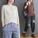 Wool knitwear Summer 2021 Average size [recommended 80-120 Jin] Rice white, khaki, coffee, turmeric elbow sleeve singleton  Socket Cellulose acetate 51% (inclusive) - 70% (inclusive) Regular routine commute easy V-neck routine Solid color Single breasted literature S0322W