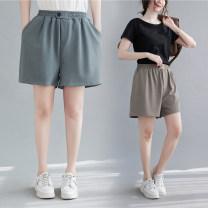 Women's large Summer 2021 Grey coffee, grey blue L [recommended 100-170 kg], XL [recommended 170-230 kg] trousers singleton  commute easy moderate literature polyester printing and dyeing routine Z0321W 51% (inclusive) - 70% (inclusive) shorts