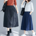 skirt Spring 2021 One size fits all [recommended 100-160 kg] Black, blue Mid length dress commute Natural waist Solid color Type A 31% (inclusive) - 50% (inclusive) pocket literature