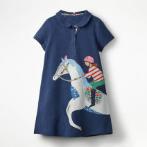 Dress Pink, watermelon red, white, as shown in Figure 2, figure 3, navy blue, figure 4 female Other / other The recommended height is 80cm for 2T, 90cm for 3T, 100cm for 4T, 110cm for 5T, 120cm for 6T and 130cm for 7T Cotton 100% summer Europe and America Short sleeve Cartoon animation A-line skirt