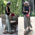skirt Summer of 2018 One size fits all - book, one size fits all - stock Black, gray longuette commute Natural waist Ruffle Skirt 25-29 years old 31% (inclusive) - 50% (inclusive) Other / other Korean version