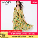 Dress Pleated lace up print longuette Short sleeve Two piece set commute V-neck Broken flower Loose waist Condom 35-39 years old routine Pendulum type silk Type A lady AW053212L2213 Mulberry silk 100% Same model in shopping malls (both online and offline) Summer 2021 More than 95% B love for