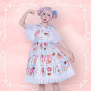Dress Summer 2020 Pink, mint, generative S,M,L Mid length dress singleton  Sleeveless Sweet One word collar middle-waisted Cartoon animation Princess Dress other camisole 18-24 years old Type A Mary pudding Bows, ruffles, lace, prints 81% (inclusive) - 90% (inclusive) Chiffon polyester fiber Lolita
