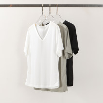 T-shirt Army green, white, black S,M,L Spring 2021 Short sleeve V-neck Self cultivation Regular routine commute other 71% (inclusive) - 85% (inclusive) classic Solid color Yiwuqi 416-210561