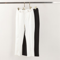 Casual pants White, black S,M,L,XL Spring 2021 Ninth pants Haren pants Natural waist routine 81% (inclusive) - 90% (inclusive) 411-66017 Yiwuqi nylon nylon