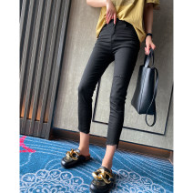 Jeans Spring 2021 black 26,27,28,29,30 Ninth pants Natural waist Pencil pants routine 25-29 years old Zipper, button, multiple pockets other Dark color LLJ83092 spread 51% (inclusive) - 70% (inclusive)