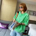 Sweater / sweater Spring 2021 Orange, green, yellow, white Average size elbow sleeve routine Socket singleton  routine Hood easy commute routine Solid color 25-29 years old spread Korean version JDJ11970 pocket