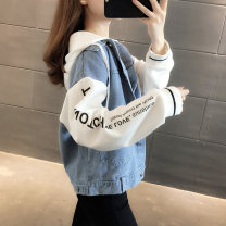 short coat Autumn 2020 Average size white Long sleeves routine thickening singleton  easy commute routine Hood Single breasted letter 18-24 years old Chevensie 96% and above other Other 100% Pure e-commerce (online only)