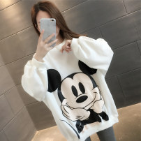 Sweater / sweater Spring 2020 White red white plush red plush Average size Long sleeves routine Socket singleton  thickening Crew neck easy commute routine Cartoon animation 18-24 years old 96% and above Chevensie Korean version other XFXEW23132 Embroidery printing Other 100%