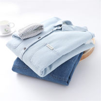 shirt Dark blue light blue M L Winter of 2019 other 96% and above Long sleeves commute Regular Polo collar Single row multi button routine Solid color 18-24 years old Straight cylinder Yousha Korean version YS-20199523 Patch pocket button Other 100% Pure e-commerce (online only)