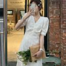 Hanfu 81% (inclusive) - 90% (inclusive) Summer 2021 White dress S,M,L,XL cotton