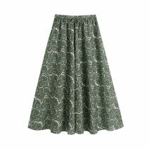Casual pants green XS,S,M,L Summer 2021 trousers Wide leg pants High waist street 81% (inclusive) - 90% (inclusive) WHLP other fold Europe and America