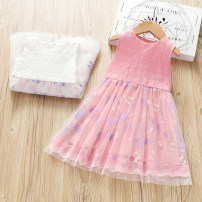 Dress female Other / other 90cm,100cm,110cm,120cm,130cm Other 100% summer Korean version Skirt / vest Broken flowers cotton Class B 12 months, 18 months, 2 years old, 3 years old, 4 years old, 5 years old, 6 years old