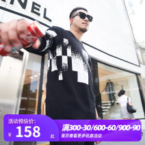 T-shirt / sweater GxxH Fashion City black 2XL 3XL 4XL 5XL 6XL 7XL routine Cardigan Crew neck Long sleeves winter easy 2019 leisure time tide Large size routine other Autumn of 2019 washing Regular wool (10 stitches, 12 stitches) other Pure e-commerce (online only)