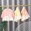 Sweater / sweater Other / other Pink, yellow, orange female 66cm,73cm,80cm,85cm,90cm,95cm,100cm,105cm spring and autumn No detachable cap leisure time Socket Thin money cotton Cartoon animation Cotton 95% polyurethane elastic fiber (spandex) 5%