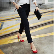Casual pants black XS / 1, S / 2, M / 3, L / 4, XL / 5, XXL / 6 Autumn 2021 Ninth pants Pencil pants High waist Versatile routine 35-39 years old 91% (inclusive) - 95% (inclusive) 1001-190063-341211 Girdard / brother-in-law nylon pocket nylon