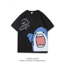 T-shirt Youth fashion Black and white routine S M L XL 2XL 3XL 4XL Rosnay  Long sleeves Crew neck easy Other leisure summer LN20A-MH3975 Cotton 100% youth routine tide Summer 2021 other cotton No iron treatment Pure e-commerce (online only) 90% (inclusive) - 95% (inclusive)