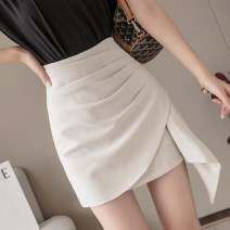 skirt Summer 2021 S,M,L,XL Apricot, purple, black Short skirt commute High waist Irregular Solid color Type A 18-24 years old JZT 51% (inclusive) - 70% (inclusive) Korean version