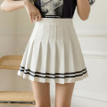 skirt Summer 2021 S,M,L,XL White, black Short skirt commute High waist A-line skirt Solid color Type A 18-24 years old GT 51% (inclusive) - 70% (inclusive)