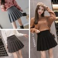 skirt Winter 2021 S,M,L,XL,2XL Light gray, dark gray, black, 62022 black, 62022 dark gray, 62022 apricot Short skirt commute High waist Pleated skirt Solid color Type A 18-24 years old D520 51% (inclusive) - 70% (inclusive) Wool Other / other Korean version