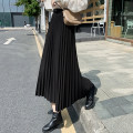 skirt Winter 2021 S,M,L,XL Black, dark grey, caramel Mid length dress commute High waist Pleated skirt Solid color Type A 18-24 years old D774 51% (inclusive) - 70% (inclusive) Wool Other / other Korean version
