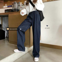 Women's large Summer 2020 blue Jeans singleton  commute easy moderate Solid color Korean version Denim cotton others Three dimensional cutting Yao Yi 18-24 years old Other 100% Pure e-commerce (online only) trousers tassels 101g / m ^ 2 (including) - 120g / m ^ 2 (including) Contains (9 oz) - 11 oz