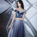 Dress / evening wear Weddings, adulthood parties, company annual meetings, daily appointments XS S M L XL XXL Blue gradient red gradient Korean version longuette middle-waisted Winter of 2019 Fall to the ground One shoulder Bandage 18-25 years old MGS19141 Sleeveless Embroidery Solid color Melissa