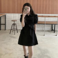 Dress Summer 2021 black S M L XL Middle-skirt Short sleeve commute other other Others 18-24 years old Yingzi instrument More than 95% other other Other 100% Same model in shopping mall (sold online and offline)
