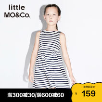Dress female Little MO&CO. 110/52 110/56 120/56 130/60 140/64 150/68 155/72 Cotton 100% summer Europe and America Skirt / vest stripe Pure cotton (100% cotton content) Cake skirt Class B Summer 2021 Chinese Mainland Guangdong Province Guangzhou City