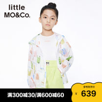 Plain coat Little MO&CO. neutral 110/56 120/56 130/60 140/64 150/68 155/72 Interesting image color summer Europe and America Zipper shirt There are models in the real shooting Thin money No detachable cap other KBA2JKTT01 Polyamide fiber (nylon) 100% Summer 2021