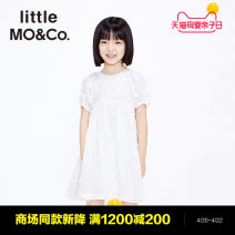 Dress female Little MO&CO. 110/56 120/56 130/60 140/64 150/68 155/72 Cotton 100% summer Europe and America Short sleeve flower Pure cotton (100% cotton content) other Class B Summer 2021 Chinese Mainland Guangdong Province Guangzhou City