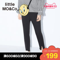 trousers Little MO&CO. female 110/50 110/53 120/53 130/56 140/58 150/61 155/64 Denim black spring and autumn trousers Europe and America There are models in the real shooting Jeans Leather belt middle-waisted Don't open the crotch KBO1JEN005 Class B Spring 2020 Chinese Mainland Guangdong Province