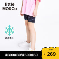 trousers Little MO&CO. female 110/53 120/53 130/56 140/58 150/61 155/64 black summer shorts Europe and America There are models in the real shooting Casual pants Leather belt middle-waisted Don't open the crotch Polyethylene terephthalate (polyester) 88% polyurethane elastic fiber (spandex) 12%