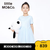 Dress Windbell blue yellow green female Little MO&CO. 110/56 120/56 130/60 140/64 150/68 155/72 Cotton 100% summer Europe and America Short sleeve Pure cotton (100% cotton content) Splicing style KBA2DRST04 Summer 2021 Chinese Mainland Guangdong Province Guangzhou City
