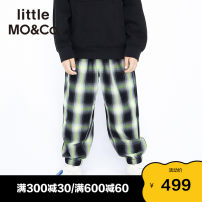 trousers Little MO&CO. male 110/53 120/56 130/59 140/60 150/63 160/66 Green black check black and white check spring and autumn trousers Europe and America There are models in the real shooting Casual pants Leather belt middle-waisted Don't open the crotch KBA1PAT017 Class B Spring 2021